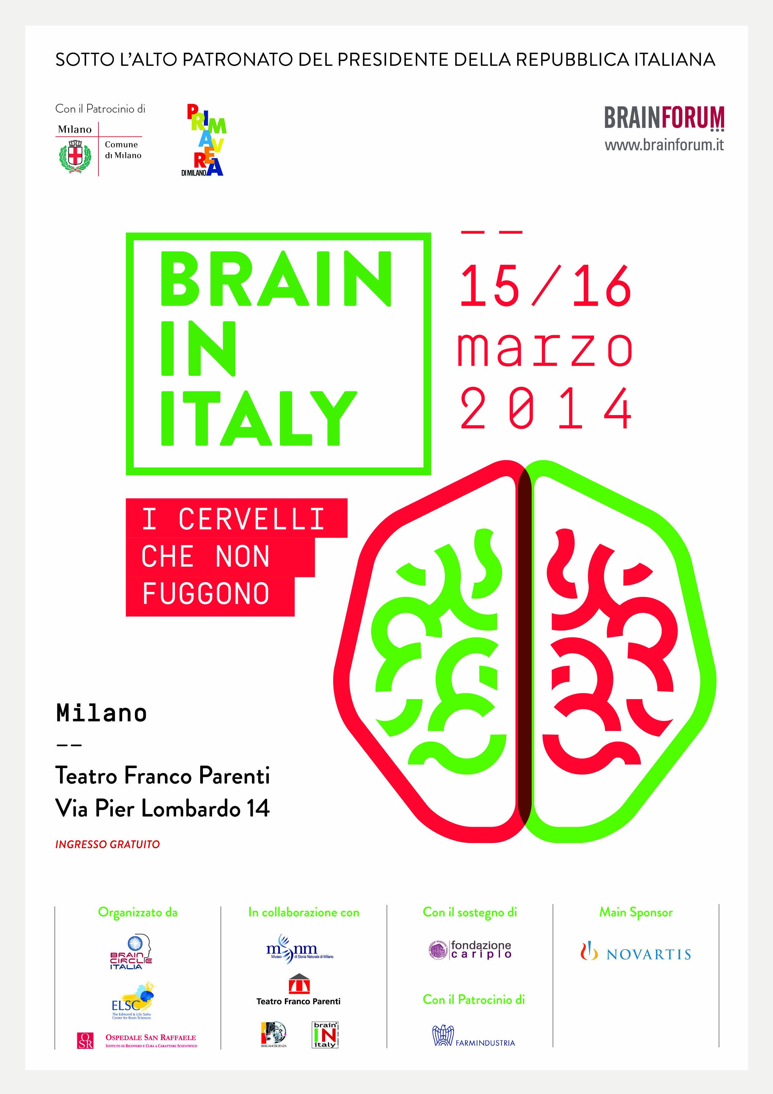 2014 – Brain in Italy – I cervelli che non fuggono