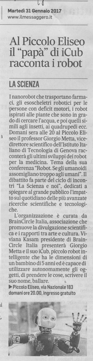 Il Messaggero – 31.01.2017